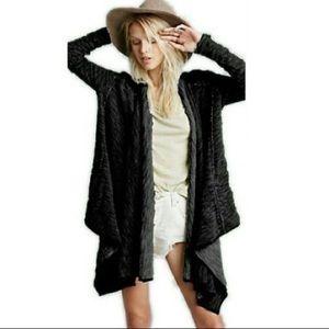 Free People flowy sweater shawl jacket